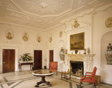 The Entrance Hall at Farnborough Hall with Roman Busts