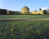 View of the north front of Ickworth showing the central rotunda and the curved corridors