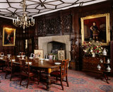 The Dining Room at Sizergh Castle, Cumbria,  with Elizabethan oak panelling