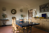 The Dining Room at Coleton Fishacre, the house designed in 1925 for Rupert and Lady Dorothy D'Oyly Carte at Kingswear, Devon