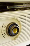 Close view of part of the GEC (General Electric Co.) radio in the Sitting Room at Plas yn Rhiw, Pwllheli, Gwynedd.