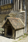 The Dog Kennel, made in 1891, in the Courtyard at Ightham Mote, Sevenoaks, Kent, a fourteenth-century moated manor house