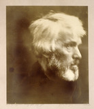 THOMAS CARLYLE, photograph by Julia Margaret Cameron, at Carlyle's House, London