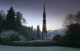 The Bristol High Cross on a winter&#039;s day at Stourhead, Wiltshire