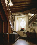 View of the Hall from Octagon door towards staircase and front window