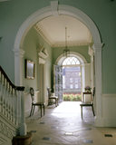 The Entrance Hall at Peckover House, looking from the staircase towards the front door