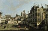 VIEW IN VENICE, Campo San Stin, by Bernardo Bellotto, 1720-1780, at Penrhyn Castle