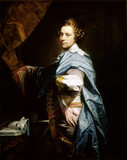 `SELF PORTRAIT - RICHARD COSWAY' by Richard Cosway (1742 - 1821) at Attingham Park, after conservation by Simon Folkes