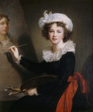 Self-portrait by Elisabeth Louise Vigée Le Brun (Paris 1755 - Paris 1842)