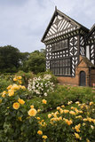 The Rose Garden with Speke Hall behind, in Merseyside