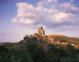 View of the keep from the outer bailey at Corfe Castle