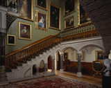 The Main Staircase at Tyntesfield, viewed North West across the Hall