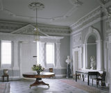 The Entrance Hall at Florence Court looking towards the door with its tripartite doorcase