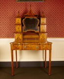 Satinwood dressing-table in the Chinese taste in the State Bedroom at Clandon Park in Surrey