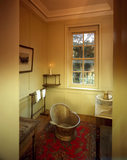 The Dressing Room at Carlyle's House showing Carlyle's towel rail, wash-basin and enamel hip-bath