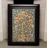 Embroidered fire screen in the North Bedroom