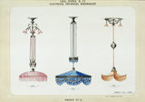 The page of a catalogue showing electric lights manufactured by Lea, Sons and Co of Shrewsbury