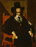 CHARLES I at his trial by Edward Bower 1648