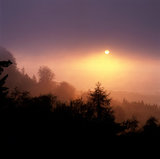 View of perfect sunrise from Leith Hill, Surrey
