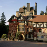 This is a view of the exterior of Cragside, Northumberland