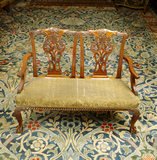 Chippendale-style furniture and Workshop carpet by Morris in the Drawing Room