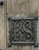 Detail of the Entrance Doorway at Gawthorpe Hall showing the ornate Kay-Shuttleworth monogram