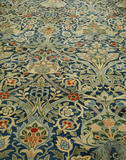 A hand knotted Morris carpet in the Drawing Room at Standen