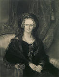 Portrait of Queen Adelaide, (1792-1849), wife of William IV, (1765-1837), in the Upstairs Corridor at Belton House