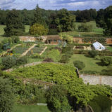 View looking north east across the Wisteria Garden to the Kitchen Garden at Greys Court