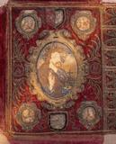 A seventeenth century bible cover, at Saltram