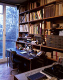 The Study at 2 Willow Road which contains much of the material from Erno Goldfinger's office, moved here after his retirement in 1977