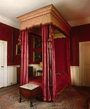 View of the Little Chamber at Lytes Cary, showing the four poster bed dating from the late C18th, formerly Sir Walter Jenner's bedroom