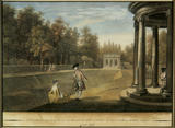 VIEW OF THE BANQUETING HOUSE AND ROTUNDA, STUDLEY ROYAL 1758 by Anthony Walker (1726-65)