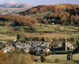 The Cumbrian village of Hawkshead seen looking towards Latterbarrow & Cliff Heights