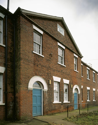 View of the Infirmary Block of the workhouse, built in 1871