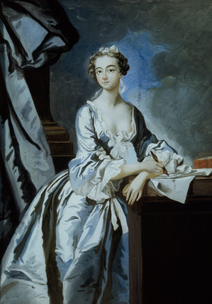 VISCOUNTESS ANDOVER, painting on glass, in the Drawing Room at Fenton House