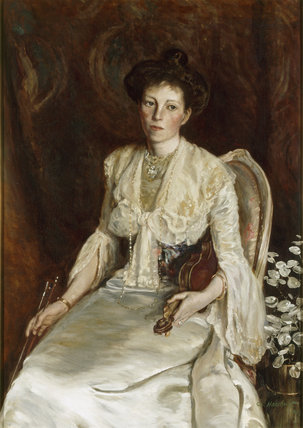 DORA MARIA PENNYMAN - portrait by an unknown artist hanging in the Entrance Hall