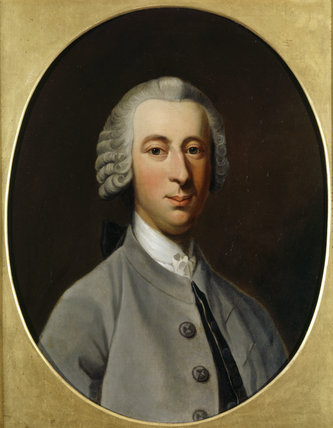 Oval portrait of James Fenton (1754-1834) in the Hall