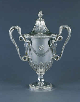 Detail of the Pennyman Cup 1772 in the Dining Room