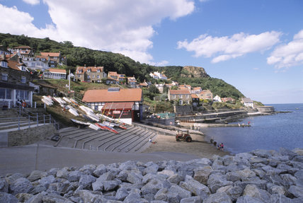 The picturesque harbour at Runswick Bay