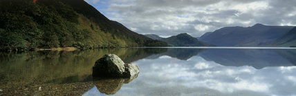 A panoramic view across Crummock Water by Buttermere Valley, Cumbria
