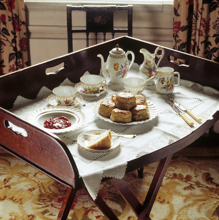 The Butler's Tea Tray in the Summer Room at Dunham Massey