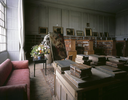 The Old Library at Petworth House, also known as 'Turner's Studio'