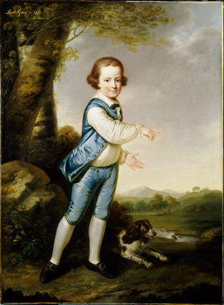 PORTRAIT OF THE 6TH EARL OF STAMFORD AS A BOY by James Shaw