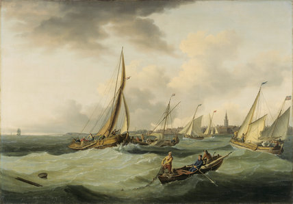 FISHING BOATS by John Thomas Serres (1759-1825) at Plas Newydd