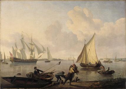 MEN AT WAR by John Thomas Serres (1759-1825) at Plas Newydd