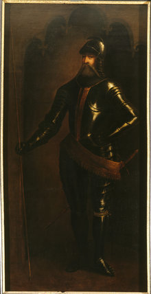 EDWARD, THE BLACK PRINCE by an unknown artist in the 17th cent
