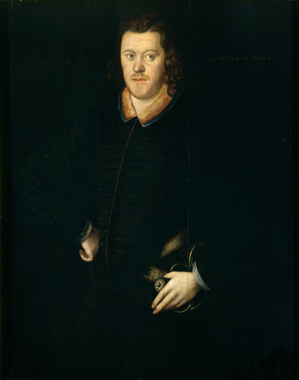 SIR PETER LEGH IX AS A YOUNG MAN (1563-1636) painted by an unknown artist