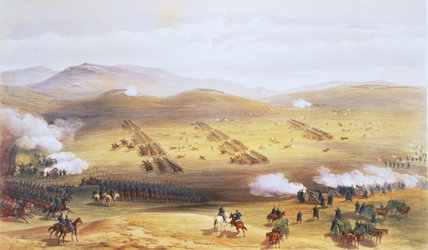 A DETAILED DEPICTION OF THE CHARGE OF THE LIGHT BRIGADE by William Simpson from the sketch-books at Tatton Park called 'The Seat of War in the East, 1855-6'