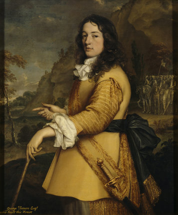 A portrait of GEORGE VERNON by J.M. Wright (1617-1694)